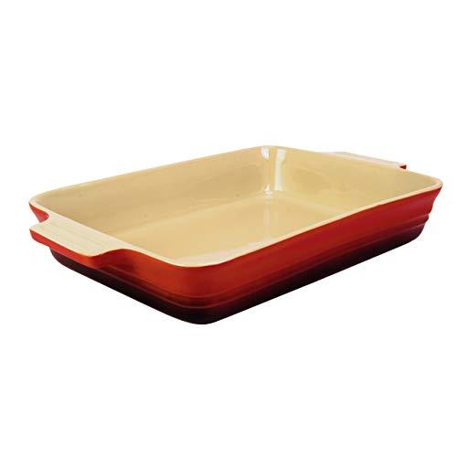 Essence - Maison Baking Dish Rectangle 12.25in X 9.25in - Ceramic Baking Dish and Deep Lasagna Pan - Salsa/Cream