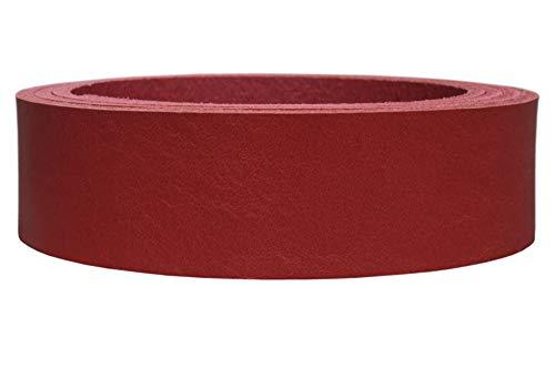 Vollrindleder Lederriemen 'New Jersey', Premium-Leder, 3,3mm dick, Soft-Leder, Farbe:rot, Breite:4cm breit