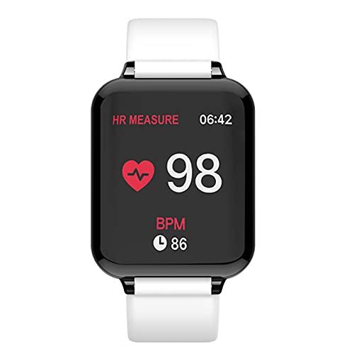 WPH B57 Relojes Inteligentes Deportes Impermeables SmartWatch Monitor de frecuencia cardíaca Funciones de presión Arterial para Mujeres Hombres niño,A