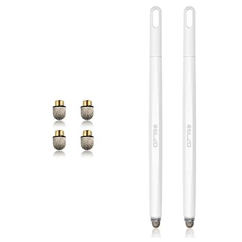 ELZO Bolígrafos capacitivos y de Gel 2 en 1, bolígrafo con 4 Puntas de nanofibras de Repuesto, bolígrafos multilaterales para Tablets con Pantalla táctil ASUS/Lenovo/Surface/Samsung Galaxy Note/LG
