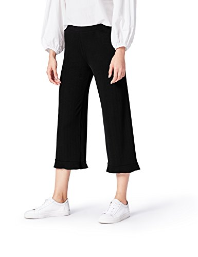 find. Wide Leg Pantaloni Donna, Nero (Black), 46 (Taglia Produttore: Large)