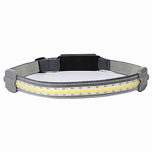 Linterna Frontal LED Ajustable 210 ° Gran Angular 350 lúmenes Linterna Frontal Ligera Advertencia de luz roja Linterna Recargable USB para Acampar, Correr, IR de excursión