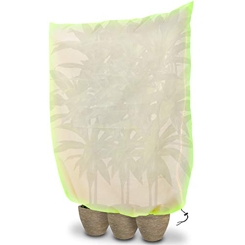 Tvird Plant Fleece Frost Protection, Plant Frost Cover for Winter, Plant Frost Protection Cover, Winter Plant Covers for Frost Outdoor Garden Plant Warming Jackets Large (180x120cm)