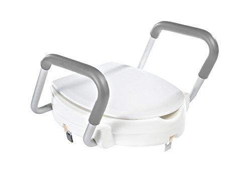RIDDER Assistent A0072001 Toilettensitzerhöhung, WC-Sitzerhöhung mit Griffen, ca. 10 cm, weiß