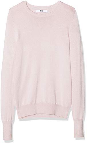Marca Amazon - find. Jersey con Cuello Redondo Mujer, Rosa (Blush Pink), 38, Label: S