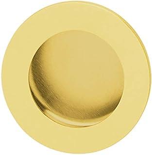 Gedotec Design-inbouwdeurkruk ronde schuifdeurkruk - DADY GOLD | greep Ø 50 mm | inloopgreep RVS PVD messing gepolijst | s...