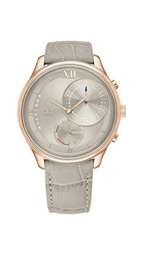 Tommy Hilfiger Damen Analog Quarz Armbanduhr mit Lederarmband 1782131