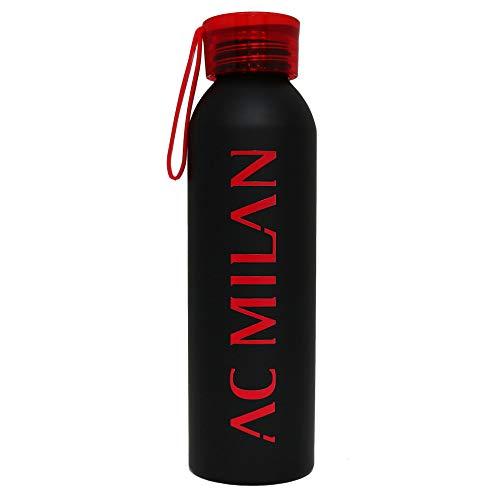 Giemme Botella Milan de aluminio de 650 ml, botella de fútbol AC-Milan...