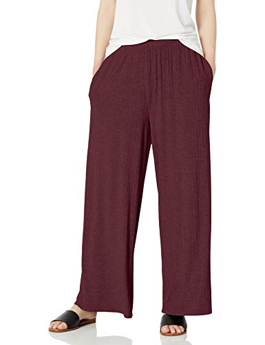 Daily Ritual Rayon Spandex-Pantaloni Lounge a Costine Larghe Pants, Fico, US (EU XS-S)