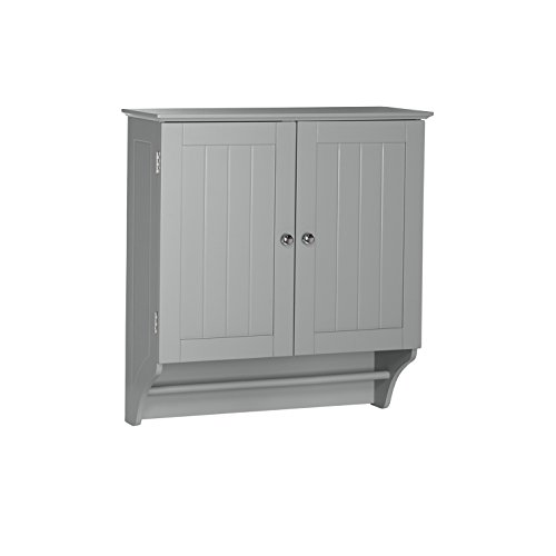 RiverRidge Home Products 06-085 Ashland Collection 2-Door Wall Cabinet, Gray