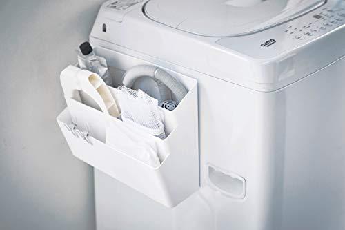マグネットで簡単に洗濯機にくっつけられる収納ポケット。デッドスペースを活用しつつ、洗濯機周りのちょっとした収納不足を解消してくれます。