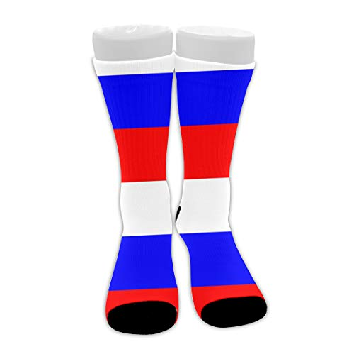 Mens Teens Thick Warm Compression Socks Fashion Casual Comfy Breathable Cotton Soft Mid-Calf Stockings Athletic Russian Flag Crew Socks - Perfect Gifts