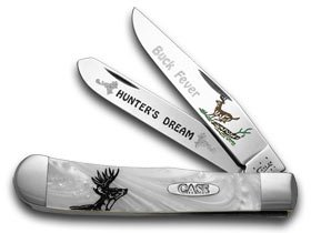 CASE XX Collectors EDT 1/1000 Buck Fever White Pearl Trapper Pocket Knife Knives -  W.R. Case & Sons Cutlery Co., HP-BF