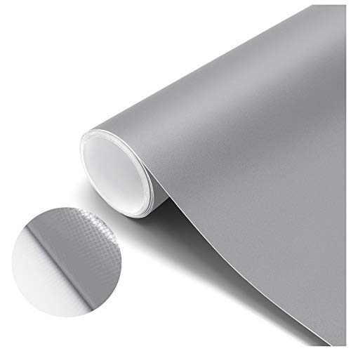 Papel Pintado Adhesivo Gris Vinilos para Muebles Antifouling y Resistete a Humedad y Mancha de Grasa, Papel Adhesivo para Pared 61 x 500 cm
