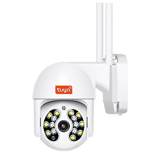 Cámara IP Tuya de 3MP, cámara de videovigilancia con detección de movimiento AI IP66 Wifi HD PTZ para exteriores,Camera+32g