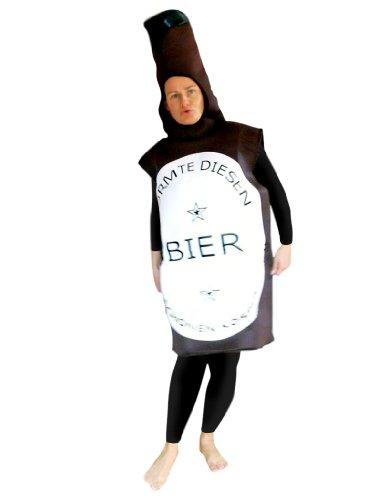 Bier-Flasche Kostüm, To48 Gr. M-L, Bierflasche-Kostüme Bierflaschen  Kostüme Erdbeere-Faschingskostüm, Fasching Karneval, Faschings-Kostüme, Geburtstags-Geschenk Erwachsene