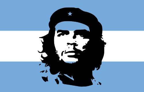 Michael & Rene Pflüger Barmstedt Auto Aufkleber Fahne von Argentinien mit Che Guevara Sticker Motorrad Bike