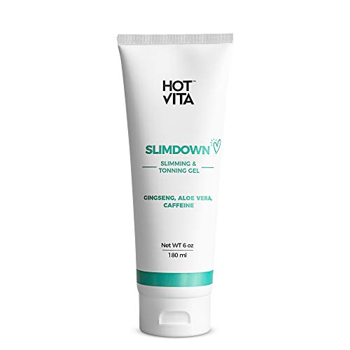 Hot Vita Slimdown Gel – Slimming Body Cream – Skin Care Product for Women – Increases Circulation with Caffeine, Ginseng Extract, Guarana Seed, Aloe Vera