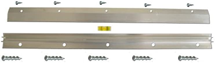 Hangman Heavy-Duty Mirror and Picture Hanger with Walldog Anchorless Screws - Aluminum: HM-18D