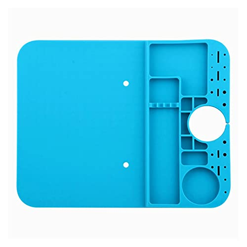 HJTYQS Microscope B1 Base Desk Mat Heat Insulation Silicone Pad Maintenance Platform for Microscope BGA Soldering Repair Station Tool (Color : Blue)