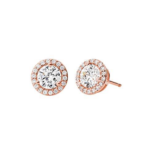 Michael Kors Damen-Ohrstecker 925er Silber 12 Zirkon One Size Rosé 32010070