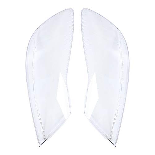GSDGBDFE Cubierta de Faros 1 Pareja Coche Izquierda y Derecha Impermeable Claro Faro Lente Cubierta de Repuesto a Prueba de Polvo Faro Cubierta Cubierta, para Skoda para Octavia 10 (Color : Clear)