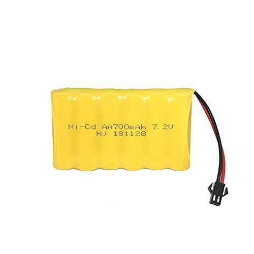 RFGTYH Paquete de batería de 7,2 v 700 mah para Control Remoto RC Coche Barco Juguete de Control Remoto eléctrico batería Recargable