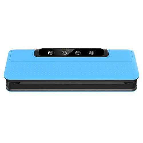 YZX Máquina de envasado al vacío, máquina portátil semiautomática de envasado con un Solo botón para conservación y Almacenamiento de Alimentos Frescos y Secos (con 10 Bolsas de sellador) Azul