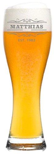 Weizenglas mit Name graviert - personalisiertes Bierglas - mit individueller Wunsch-Gravur als Geschenk (Original)