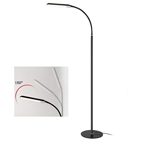 WXH Moderne led-vloerlamp met traploze dimmer & 3 kleurtemperaturen voor het naaien van woonkamer slaapkamer kantoor verstelbare led-vloerlamp