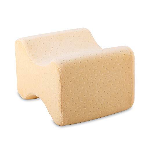 maxVitalis Visco Kniekissen für Seitenschläfer, Bezug bei 60 Grad waschbar, druckentlastendes Lagerungskissen für Becken u. Wirbelsäule, ergonomisches Kniepolster zum Schlafen, mit Memoryfoam
