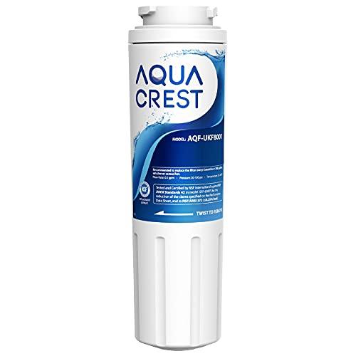 AQUA CREST UKF8001 Refrigerator Water Filter, Compatible with Maytag UKF8001P, Whirlpool UKF8001AXX-750, UKF8001AXX, EDR4RXD1, 4396395, EveryDrop Filter 4, Msd2651heb
