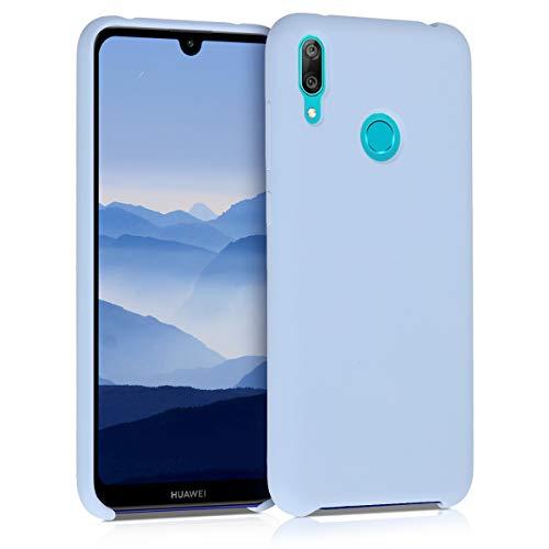 kwmobile Funda Compatible con Huawei Y7 (2019) / Y7 Prime (2019) - Funda Carcasa de TPU para móvil - Cover Trasero en Azul Claro Mate