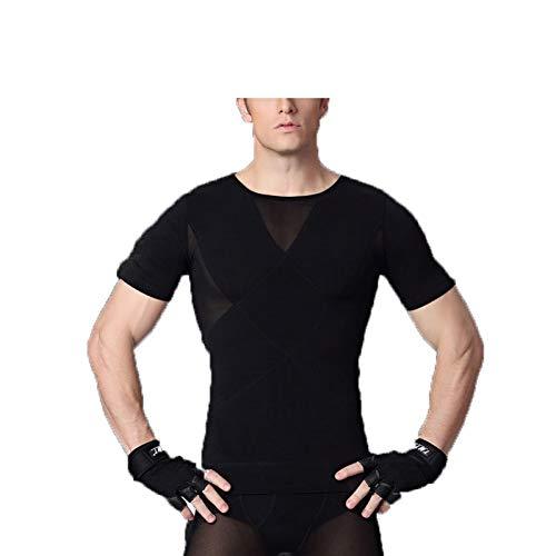 Herren Body Shapers T-Shirt Abnehmen Tops Bauch Bauch Taille Trainer Shapewear