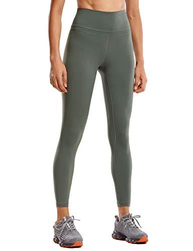 CRZ YOGA Women's Naked Feeling I High Waist Tight Yoga Pants Workout Leggings-25 Inches Grey Sage XXS