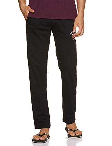 US Polo Association Men's Cotton Pyjama Bottom (I606-002-PL_Black_Medium)