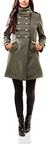 Maison du manteau - Abrigo - para Mujer Verde L