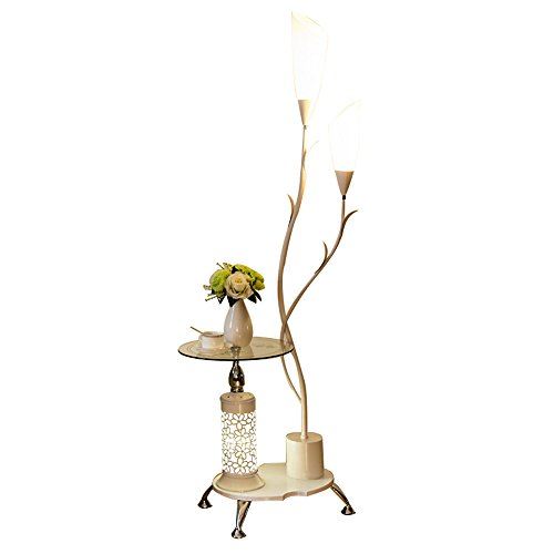 Salon lampadaire chambre table de chevet plateau table basse lumières (Couleur : Blanc)