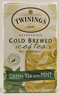 Twinings Cold Brewed Iced Tea Green Tea with Mint -- 20 Tea Bags