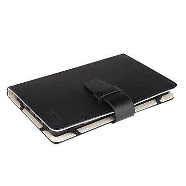 SDTEK Funda Protectora Universal Negro de 7 Pulgadas de la Tableta de la PU del Cuero del Soporte para Samsung Galaxy Tab, Google Nexus, ASUS, Android, EPAD, APAD, Lifetab, Hudl, MyTablet