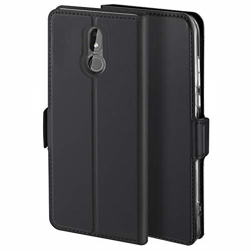 HoneyHülle für Handyhülle Nokia 3.2 Hülle Premium Leder Flip Schutzhülle für Nokia 3.2 Tasche, Schwarz
