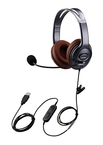 Yexatel PC Headset for Zoom Video Conferencing, Teams Meeting Headset for...