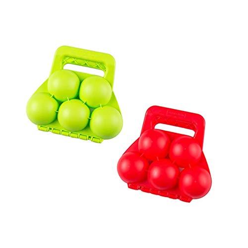 BESPORTBLE 2 Pcs Snowball Maker Sand Ball Maker Fun Outdoor Snow Sand Beach Ball Clamp Snowball Clip,Random Color