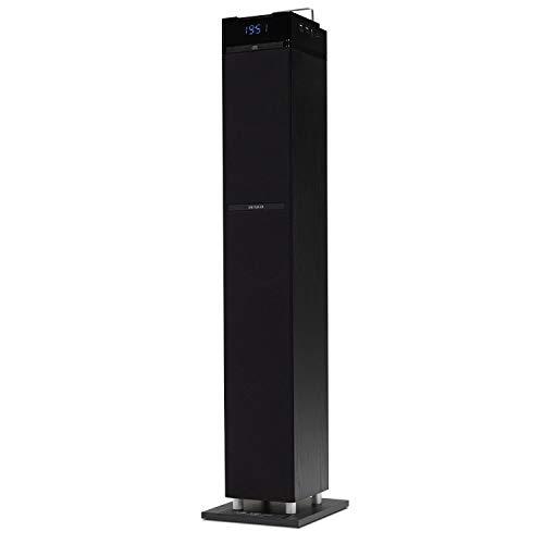 Aiwa TS-990CD Soundtower mit CD, Bluetooth, USB, SD und FM-Radio, groß, 110 W, Schwarz
