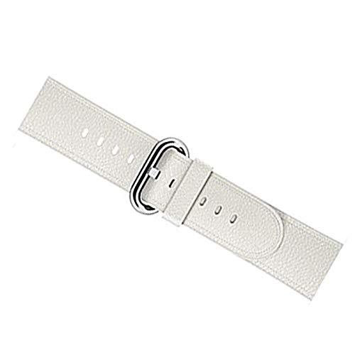 Correas de reloj de cuero Correas de reloj de repuesto de liberación rápida para hombres y mujeres Correa de reloj para iwatch series 2 3 4 5 40 mm 44 mm Blanco 40mm