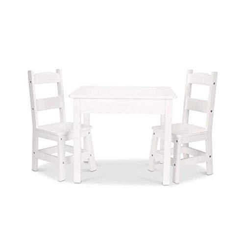 Melissa & Doug Tables & Chairs 3-Piece Set - White
