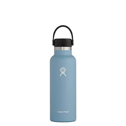 Hydro Flask Borraccia Termica da 532 ml (18 oz), Acciaio Inossidabile e Isolamento Sottovuoto con Imboccatura Standard e Tappo Antigoccia Flex Cap,