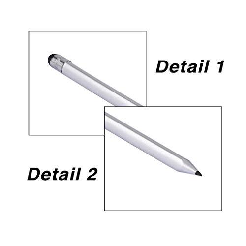 YLWL Universeller kapazitiver Kunststoffstift Kristall Touchscreen Stylus Kugelschreiber Silber
