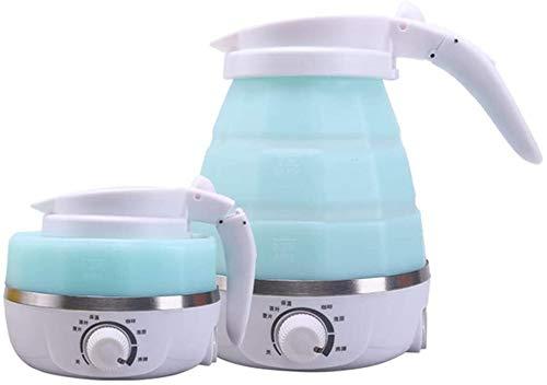 Bouilloire induction Bouilloire pliable bouilloire petite bouilloire de silicone comprimé chauffage électrique bouilloire bouillante bouilloire WHLONG (Color : Blue)