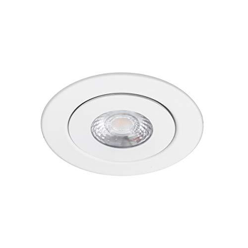 WAC Lighting R4ERAR-W930-WT Lotos 4in Round Kit LED Recessed Light, Single, Adjustable Gimble